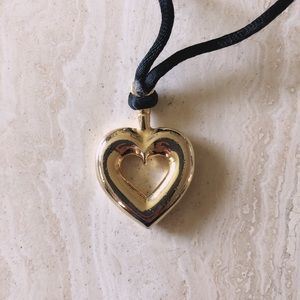 90's Style Gold Heart Necklace